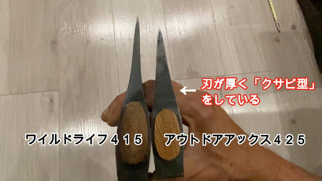 刃の形状が考えられている